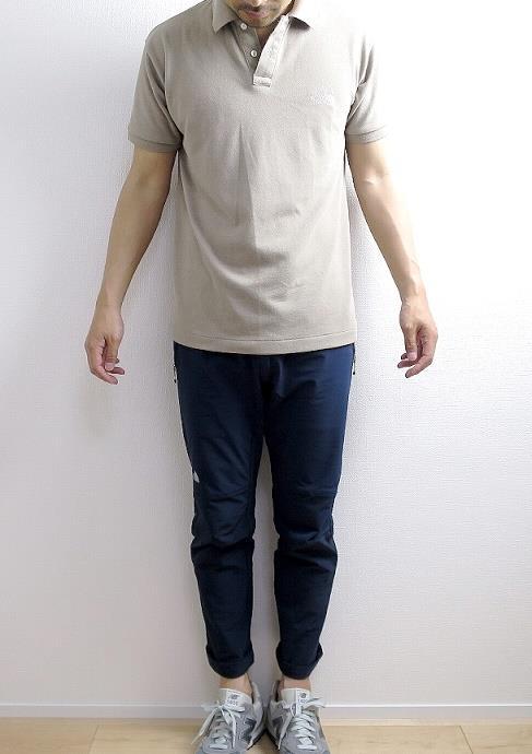 ノースフェイスのポロシャツのサイズ感