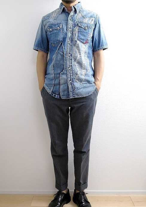 キャピタル カントリーの半袖デニムシャツ