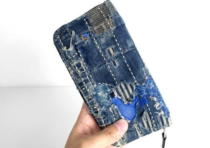 KOUNTRYの襤褸加工された長財布