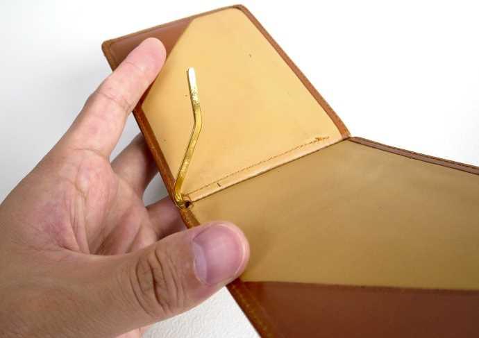 グレンロイヤル ブライドルレザー マネークリップの金具