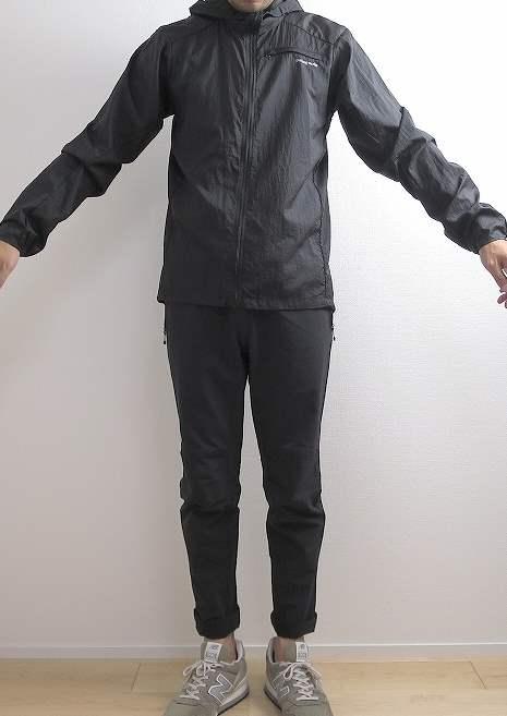 パタゴニア フーディニ ジャケットの着画