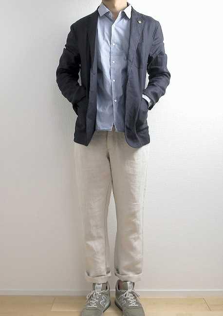 ジャンネット リネン ジャケットの着こなし方