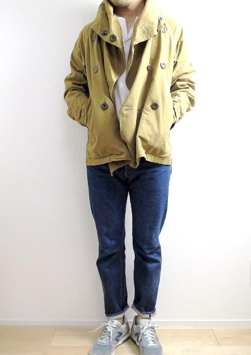 キャピタルのリングコートの着こなし