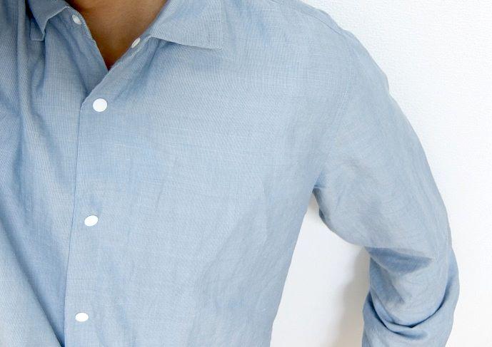 ヤエカコンフォートシャツの着画