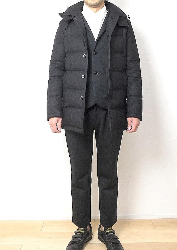 マッキントッシュ ダウンジャケットのサイズ感