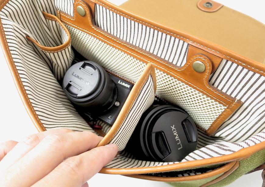 土屋鞄 キャンバス ショルダーの吸収材